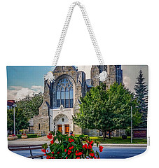 Weekender Tote Bag featuring the photograph The Church In Summer by Kendall McKernon
