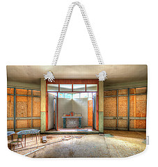 Weekender Tote Bag featuring the photograph The Church Of The Former Summer Vacation Building - La Chiesa Dell'ex Colonia Marina  by Enrico Pelos