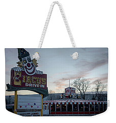 Weekender Tote Bag featuring the photograph The Circus Drive In Wall Township Nj by Terry DeLuco