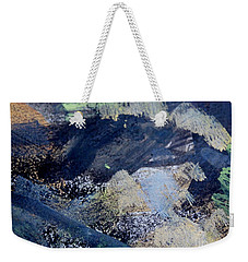 Weekender Tote Bag featuring the painting The City And The Mountain by Nancy Kane Chapman
