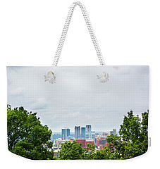 Weekender Tote Bag featuring the photograph The City Beyond by Shelby Young