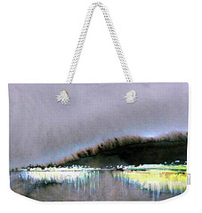 Weekender Tote Bag featuring the painting The City Lights by Ed Heaton