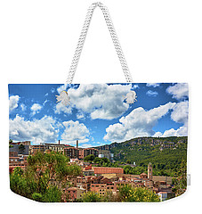 Weekender Tote Bag featuring the photograph The City Of Tarragona And A Beautiful Sky by Eduardo Jose Accorinti