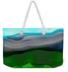 Weekender Tote Bag featuring the digital art The Hilltop View by James Fannin