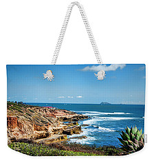 Weekender Tote Bag featuring the photograph The Cliffs Of Point Loma by Daniel Hebard