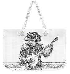 The Cold Banjo Player Weekender Tote Bag