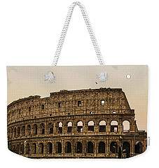The Coliseum And The Full Moon Weekender Tote Bag