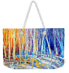 The Color Of Snow Weekender Tote Bag by Tatiana Iliina