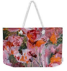 Weekender Tote Bag featuring the painting The Color Of Summer by Nancy Kane Chapman