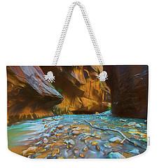 The Color Of Water Weekender Tote Bag