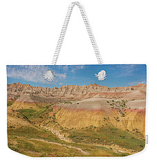 Weekender Tote Bag featuring the photograph The Colors Of Badlands National Park by Brenda Jacobs