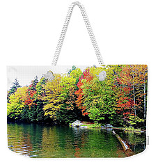 Weekender Tote Bag featuring the photograph The Colors Of Lake Raponda - Wilmington, Vermont by Joseph Hendrix
