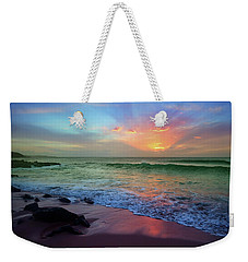 Weekender Tote Bag featuring the photograph The Colour Before The Darkness by Tara Turner