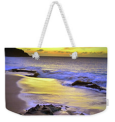 Weekender Tote Bag featuring the photograph The Colour Of Molokai Nights by Tara Turner