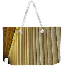 Weekender Tote Bag featuring the photograph The Columns At The Parthenon In Nashville Tennessee by Lisa Wooten