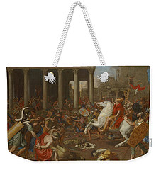The Conquest Of Jerusalem By Emperor Titus By Nicolas Poussin, 1638. Weekender Tote Bag