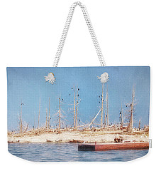Weekender Tote Bag featuring the photograph The Cormorants At Deaths Door by Susan Rissi Tregoning