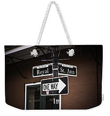 The Corner Of Royal And St. Ann, New Orleans, Louisiana Weekender Tote Bag