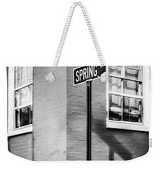 The Corner Of Winter And Spring Bw Weekender Tote Bag