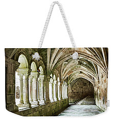 Weekender Tote Bag featuring the photograph The Corridors Of The Monastery by Eduardo Jose Accorinti