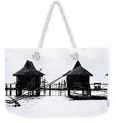 Weekender Tote Bag featuring the photograph The Cottage Dash by Jez C Self