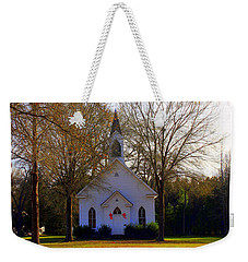 Weekender Tote Bag featuring the photograph The Country Church by Kathy White