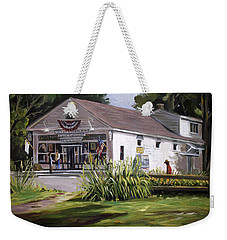 Weekender Tote Bag featuring the painting The Country Store by Nancy Griswold