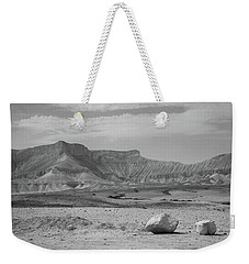 the couple of stones in the desert II Weekender Tote Bag by Yoel Koskas