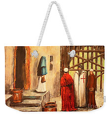 The Courtyard Conversation Weekender Tote Bag
