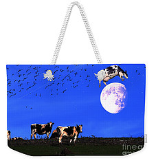 The Cow Jumped Over The Moon Weekender Tote Bag