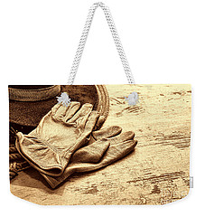 The Cowboy Gloves Weekender Tote Bag by American West Legend By Olivier Le Queinec