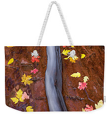 Weekender Tote Bag featuring the photograph The Crack by Patricia Davidson