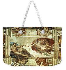 The Creation Of Adam Weekender Tote Bag