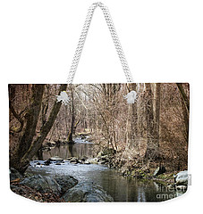 Weekender Tote Bag featuring the photograph The Creek by Judy Wolinsky