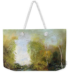 Weekender Tote Bag featuring the painting The Creek by Marlene Book