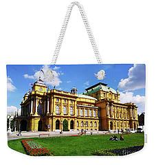 The Croatian National Theater In Zagreb, Croatia Weekender Tote Bag by Jasna Dragun