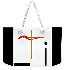 Weekender Tote Bag featuring the mixed media The Cross by Jessica Eli