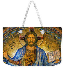 Weekender Tote Bag featuring the digital art The Cross Of Christ by Ian Mitchell