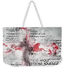 The Cross Speaks Weekender Tote Bag