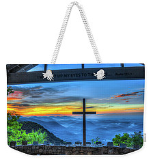 The Cross Sunrise At Pretty Place Chapel Weekender Tote Bag by Reid Callaway