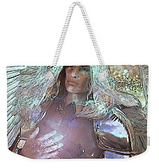 Weekender Tote Bag featuring the painting The Cross by Suzanne Silvir