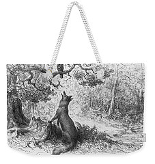 The Crow And The Fox Weekender Tote Bag by Gustave Dore