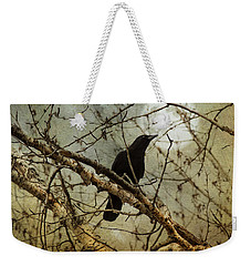 The Crow And The Moon Weekender Tote Bag by Theresa Tahara