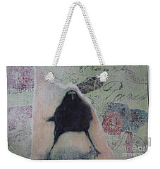 The Crow Called The Raven Black Weekender Tote Bag by Kim Nelson