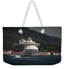 The Cruise Ship And The Plane Weekender Tote Bag by Timothy Latta