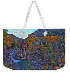 Weekender Tote Bag featuring the photograph The Crystal Mill by Scott Mahon