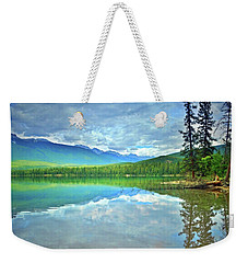 Weekender Tote Bag featuring the photograph The Crystal Waters Of Lake Annette by Tara Turner