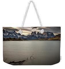 The Cuernos And Lake Pehoe #2 - Patagonia Weekender Tote Bag by Stuart Litoff