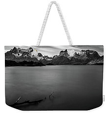 The Cuernos And Lake Pehoe - Patagonia Weekender Tote Bag