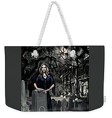 Weekender Tote Bag featuring the painting The Curse Of Johnson Bayou by James Christopher Hill